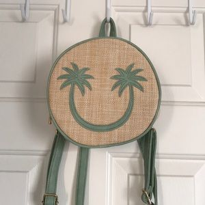 palm tree mini backpack